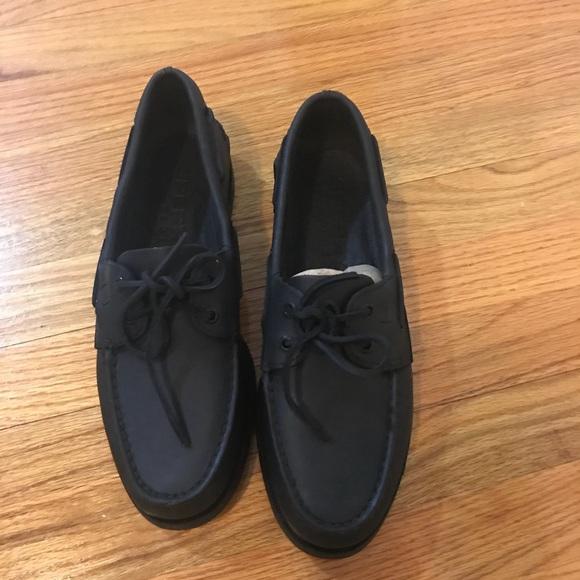 all black sperrys men's